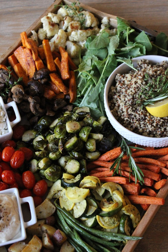 how to roast any vegetable; build your own buddha bowl