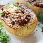 Spaghetti Squash with Simplified Bolognese