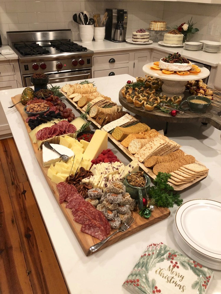 Christmas dinner party; epic cheese and charcuterie tray