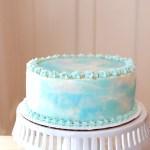 Watercolor Birthday Cake Tutorial