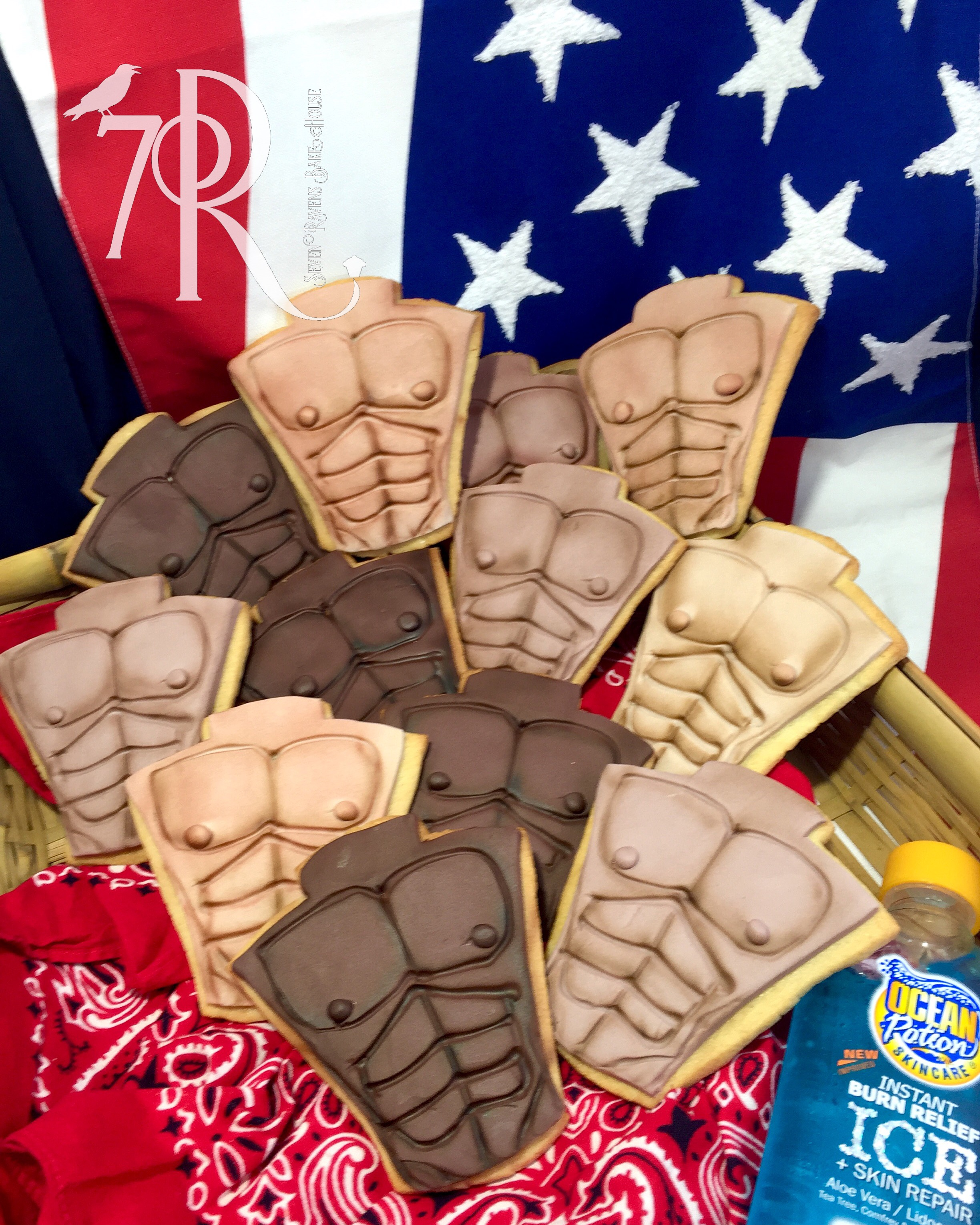 Ptown Torso Beach Cookies 4th of July