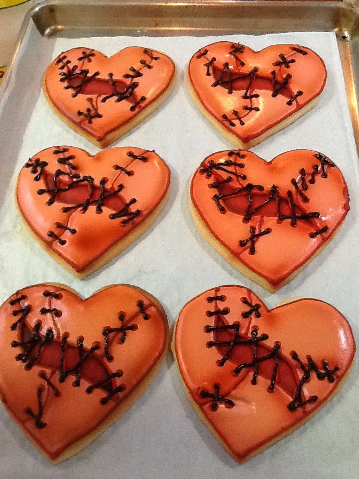 Stitched up Halloween Hearts