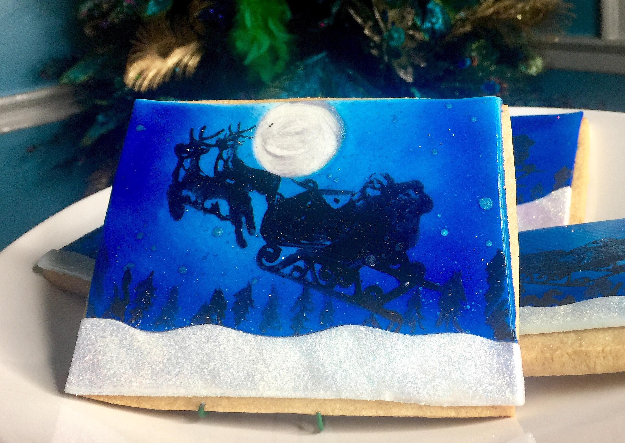 Santa Sleigh Cookie