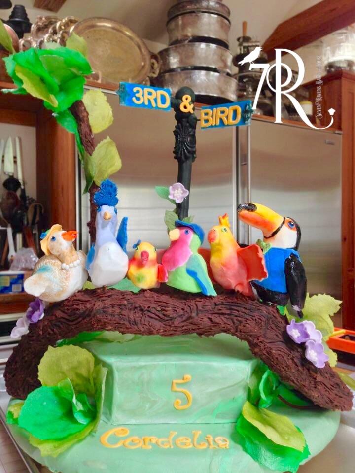 3rd & Bird 5th Birthday Cake.