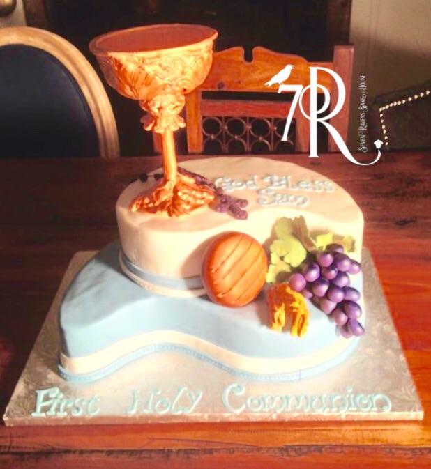 Communion Cake with gum paste chalice