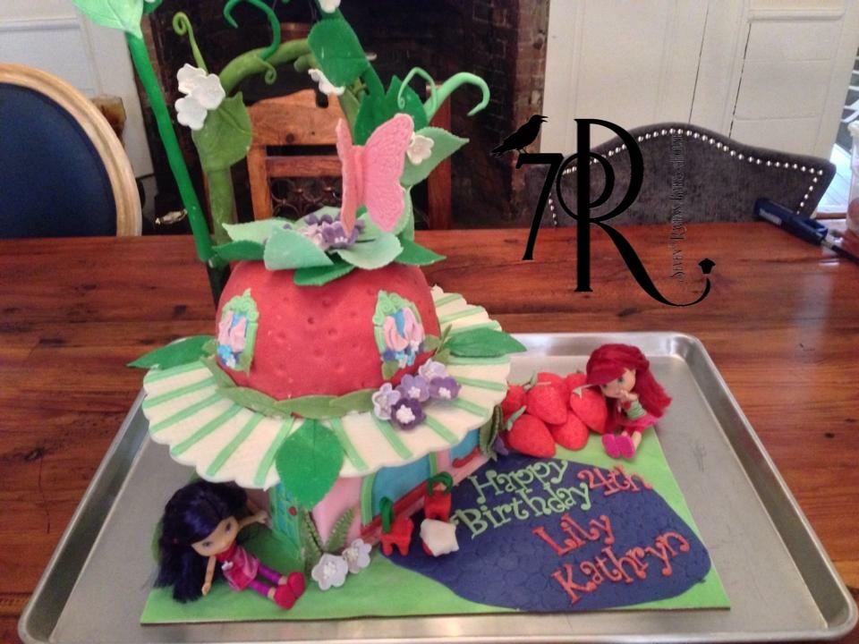 Strawberry Shortcake Character Cake