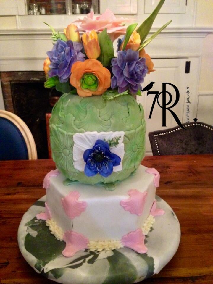 Gum paste floral cake