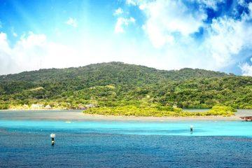 Honduras sea and blue sky