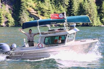 man on a boat in british columbia
