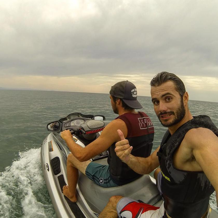 Cedric Giscos and Lionel Franssen from Shores of Fear on a jetski