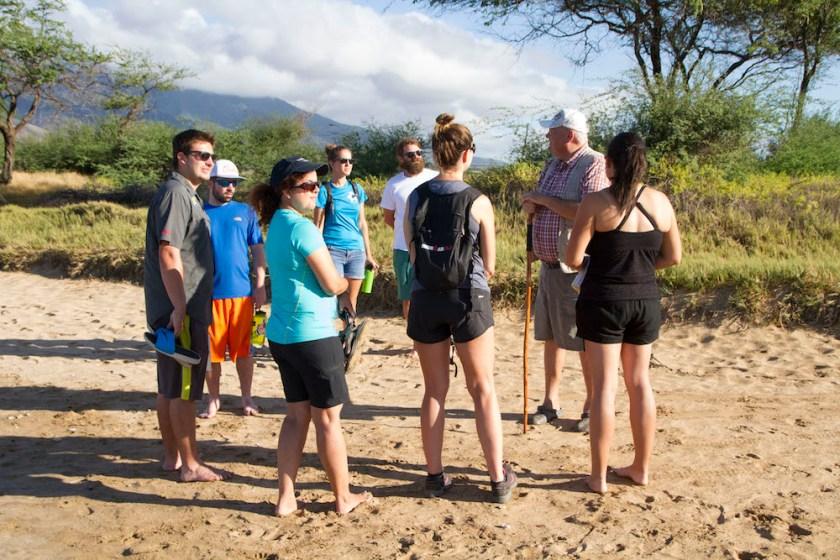 beach clean-up in maui by Maui Jeff Beige