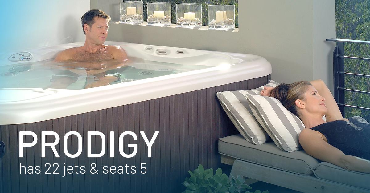 Prodigy  5 Person Hot Tub  Hot Spring  Seven Seas Pools