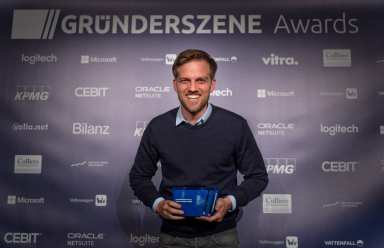 Johannes Plehn mit Gründerszene Award