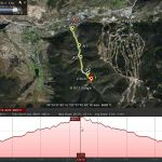 Winter Trail Running charted with Google Earth