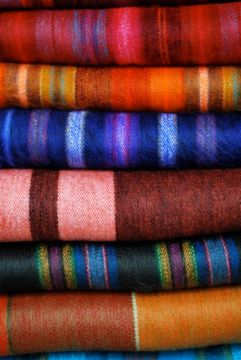 Wool blankets, Otavalo.