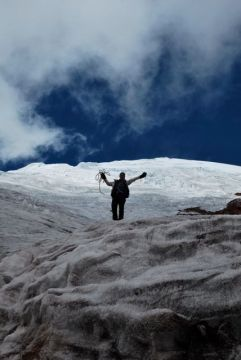 Paula on the glacier, Volcan Cotopaxi, Ecuador