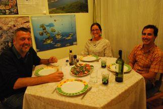 Aron and Linda's visit