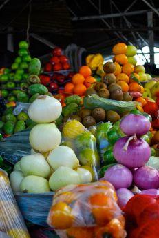 Veg market, Sangolquí, near Quito.