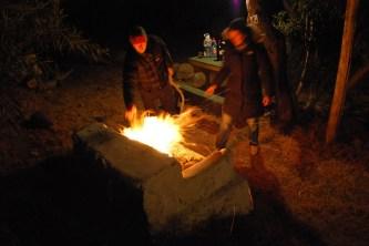 Campfire, Termas de Socos, Chile.