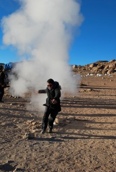 Leaping geysers
