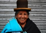 Clara's mum, working at the flower market, La Paz