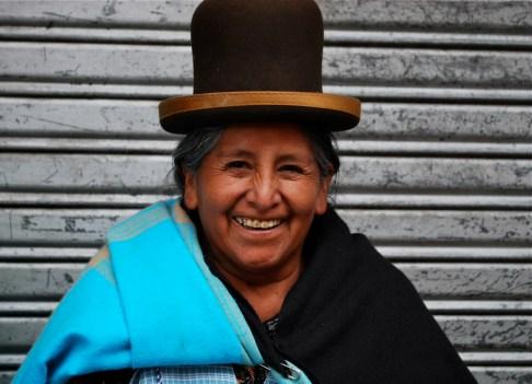 Clara's mum Carmen Mamani de Espejo, who has stunning gold hearts on her teeth.