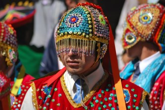 Getting ready to parade, Cusco, Peru