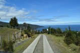 The steep road to Tril Tril, Osorno, Chile.