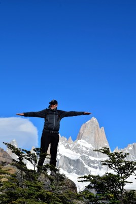 Glorious views of the Fitz Roy range on our hike to Laguna de Los Tres, near El Chalten, Argentina.
