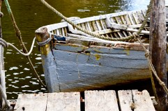 Boat near Chepu, Chiloé
