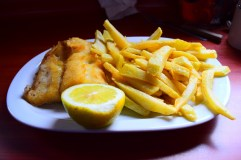 Fish 'n chips, Dalcahue, Chiloé