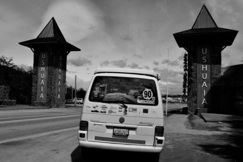 The van in Ushuaia!