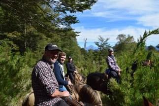 Horse trek, Chile