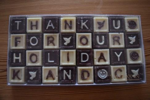 Thank-you chocs!