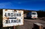 Laguna Blanca sign