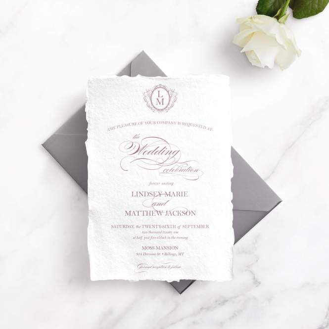 Hand Torn Wedding Invitations Luxe