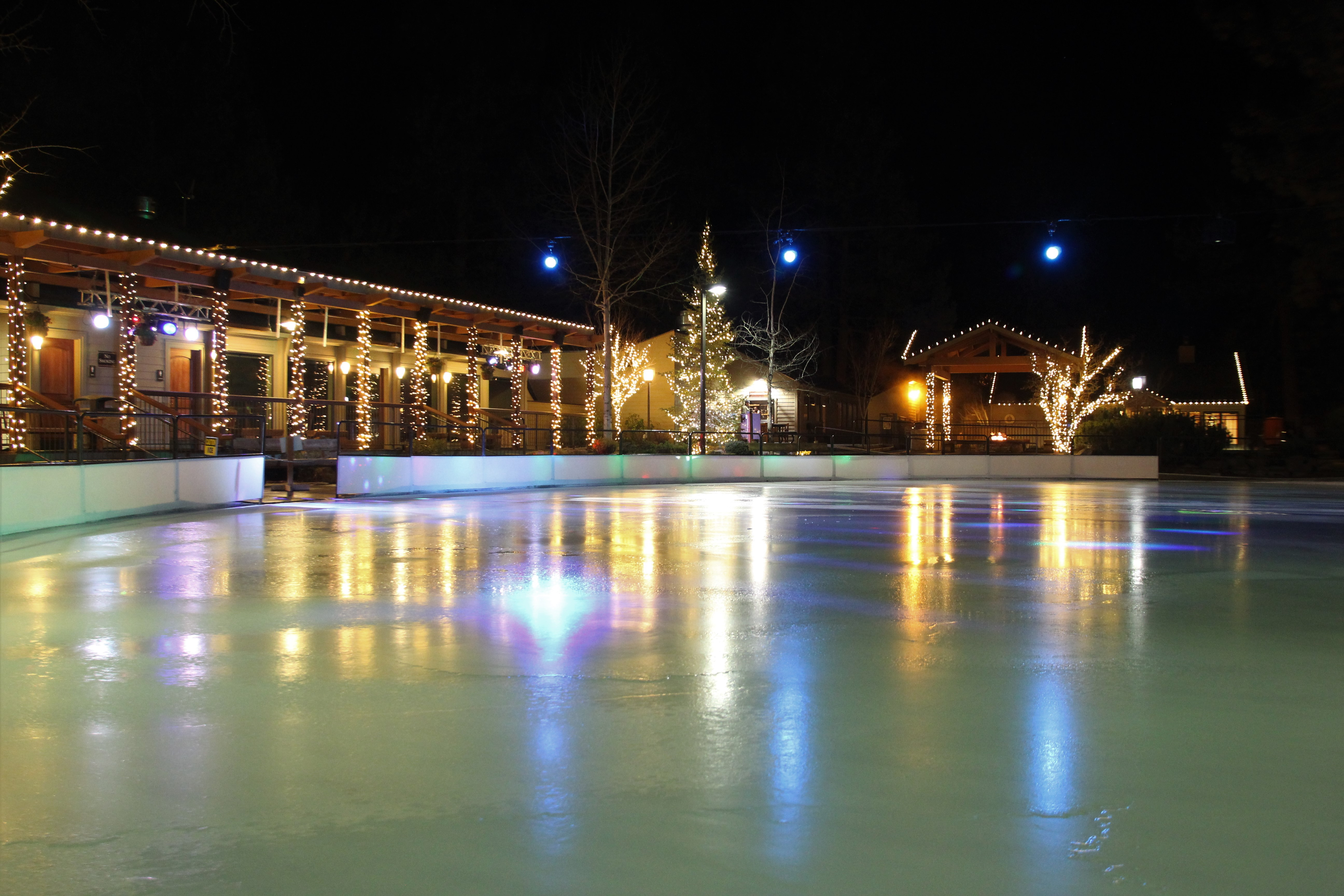 Ice Skating  Seventh Mountain Resort outdoor public ice rink