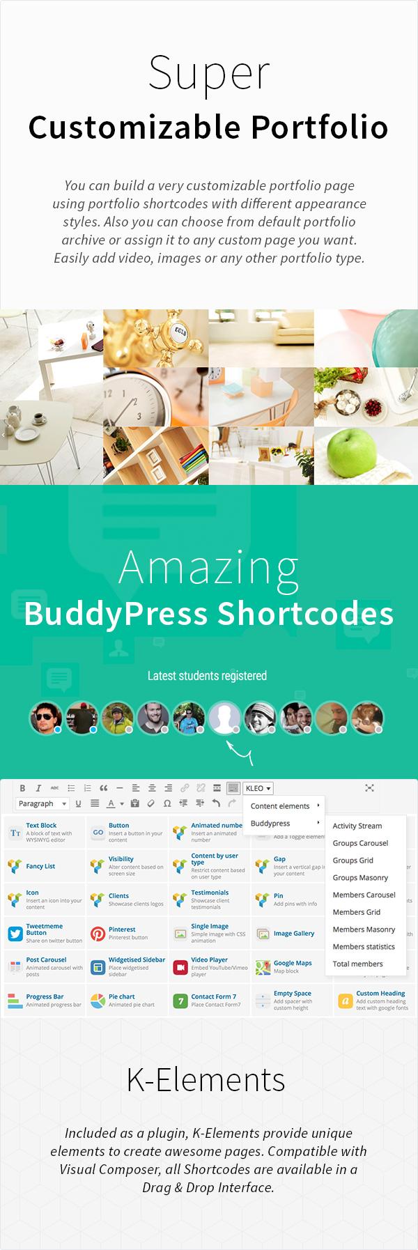 KLEO - Pro Community Focused, Multi-Purpose BuddyPress Theme - 17