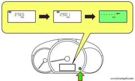 Mitsubishi maintenance service required reset info button