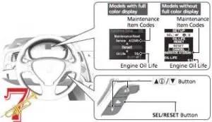acura oil maintenance reset button