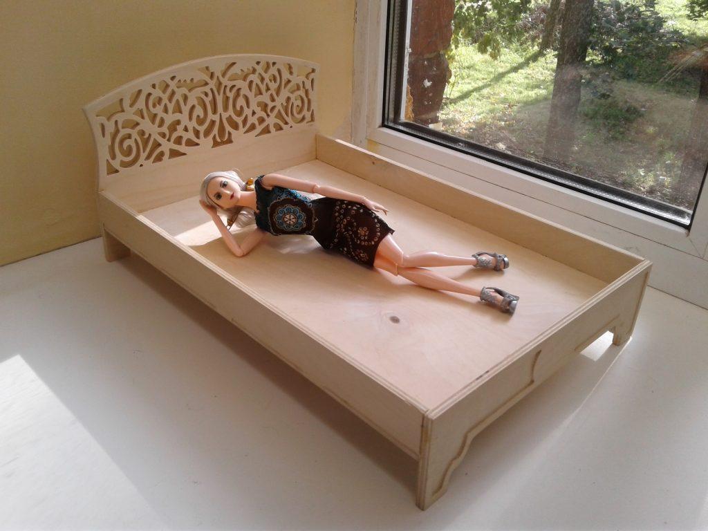 Cardboard Dolls Bed.