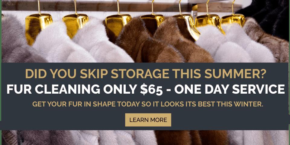 fur cleaning, fur storage