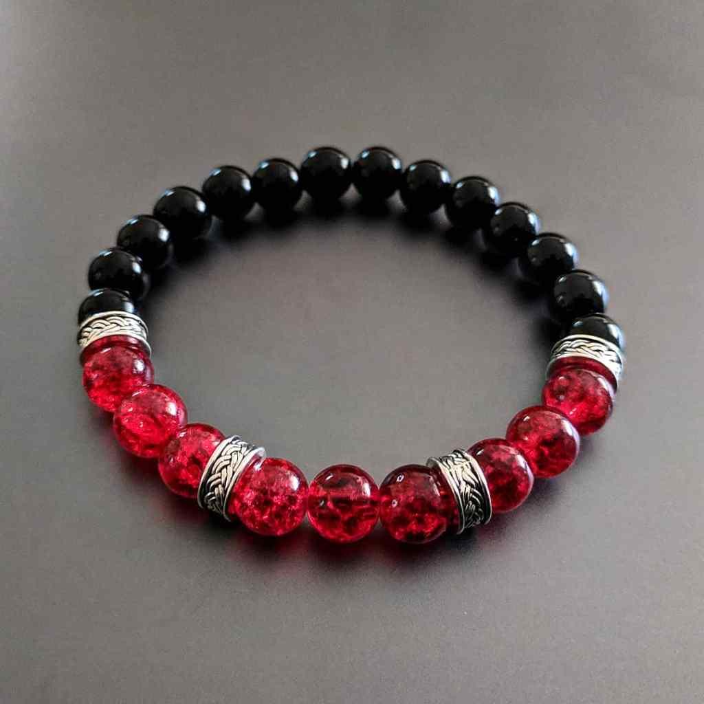 Pulsera Griega Roja