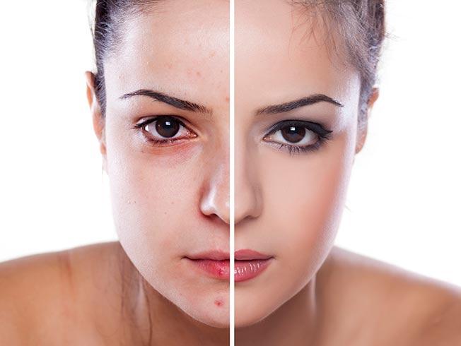 Resultado de imagen de foto corrector morado maquillaje