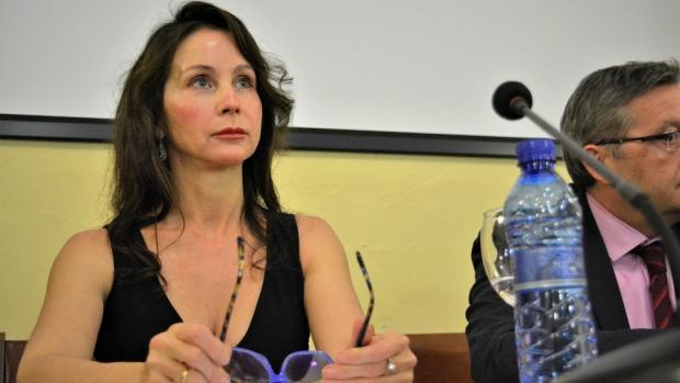 La juez Mercedes Alaya, durante su ponencia sobre independencia judicial. - L. R.