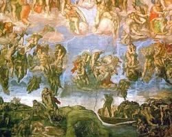 El Juicio Final realizado al fresco por Miguel Ángel para decorar el ábside de la Capilla Sixtina
