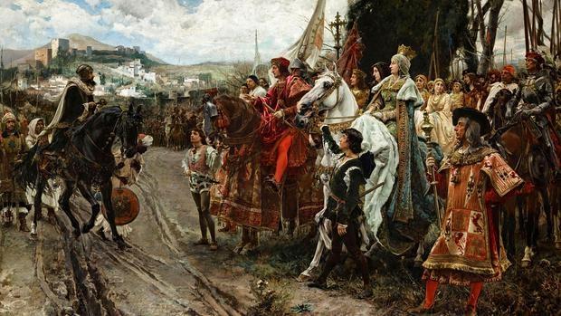 La rendición de Granada, por Francisco Pradilla