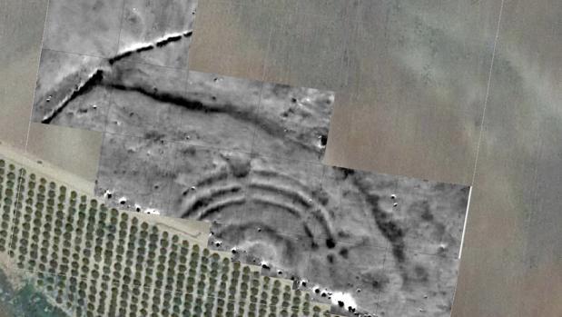 Conjunto de zanjas circulares de la Edad del Cobre hallado en Carmona