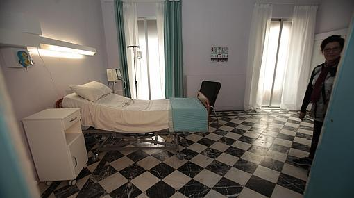 Una de las estancias donde se ha rodado la serie «Allí abajo»