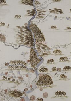 Mapa del Missisippi y sus asentamientos